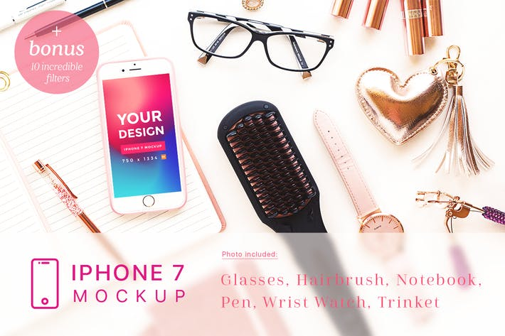Thumbnail for Cosmetic and Beauty iPhone 7 Mockup