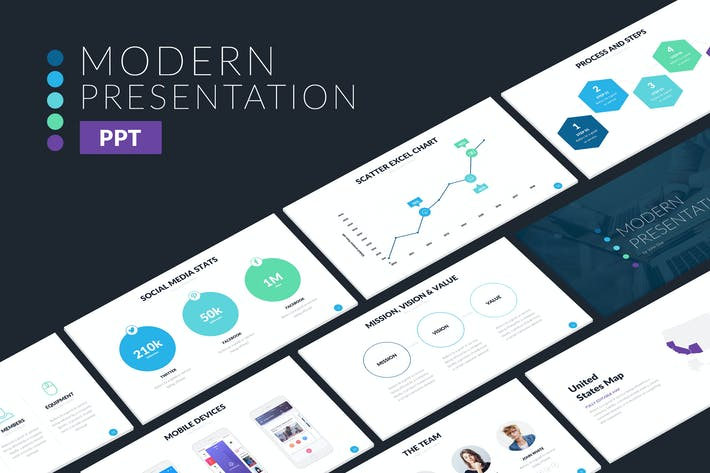 Thumbnail for Modern Powerpoint Template