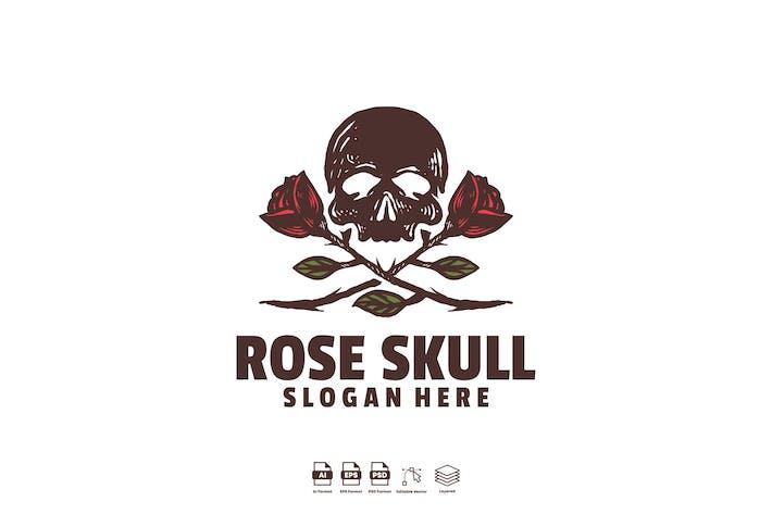 Thumbnail for rose skull logo template