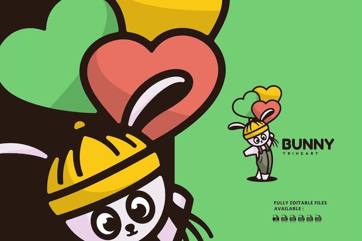 Thumbnail for Cute Bunny Cartoon Logo