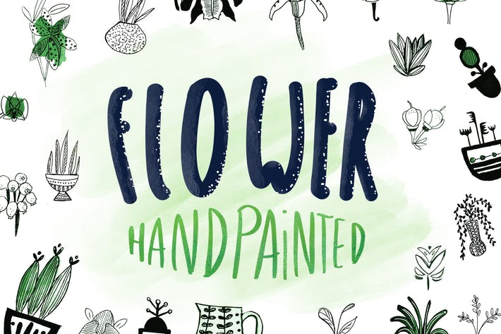 Thumbnail for Flower -  Handpainted Elements