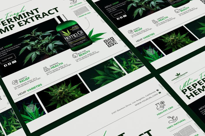 Thumbnail for Hemp Product Poster Template