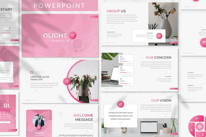 Thumbnail for Olight - Business Powerpoint Template