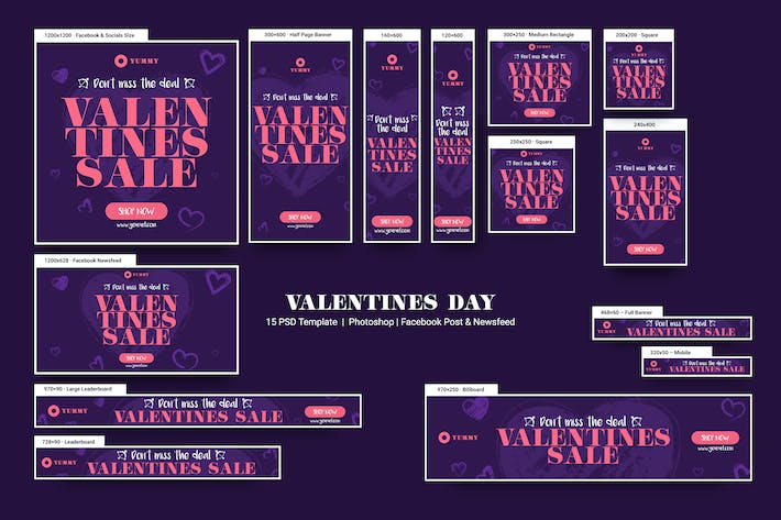 Thumbnail for Valentines Day Banners Ad