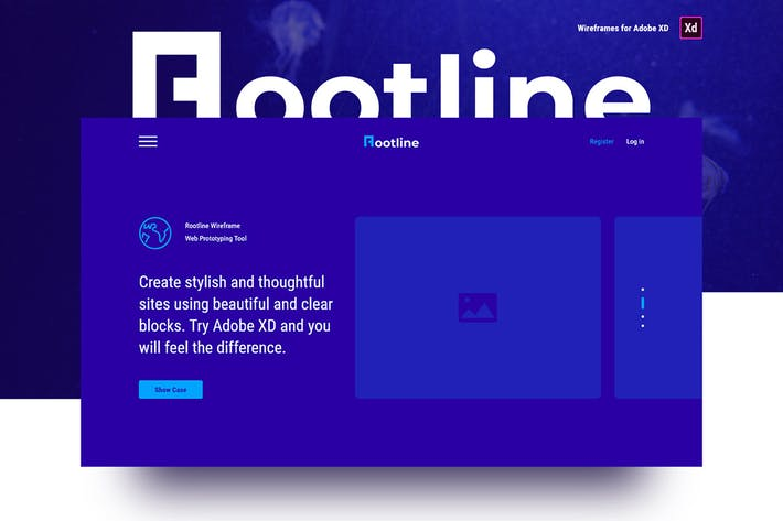 Thumbnail for Rootline Wireframe UI Kit
