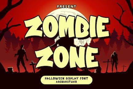 Zombie Zone - Halloween Display Font