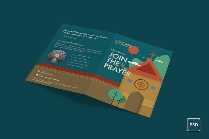 Thumbnail for Church Bi-Fold Brochure PSD Template