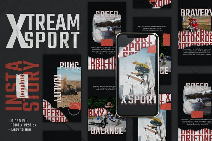 Thumbnail for Xsport Instagram Story Template