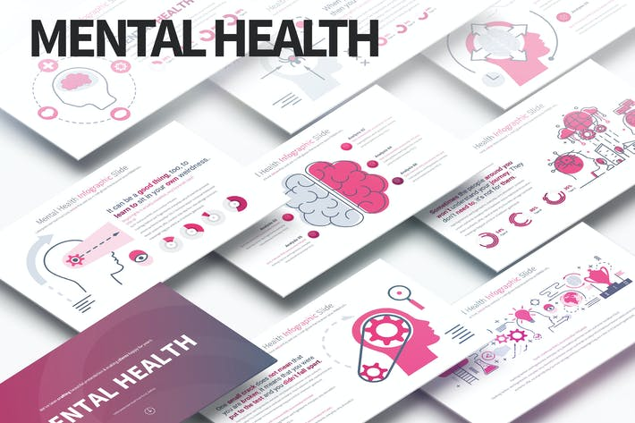 MENTAL HEALTH - PowerPoint Infographics Slides