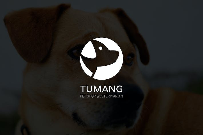 Thumbnail for Tumang : Negative Space Dog Logo