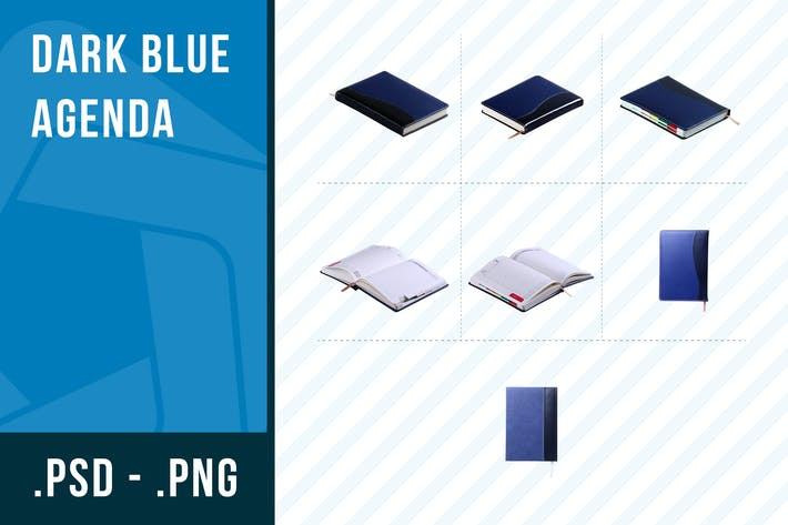 Dark blue agenda collection