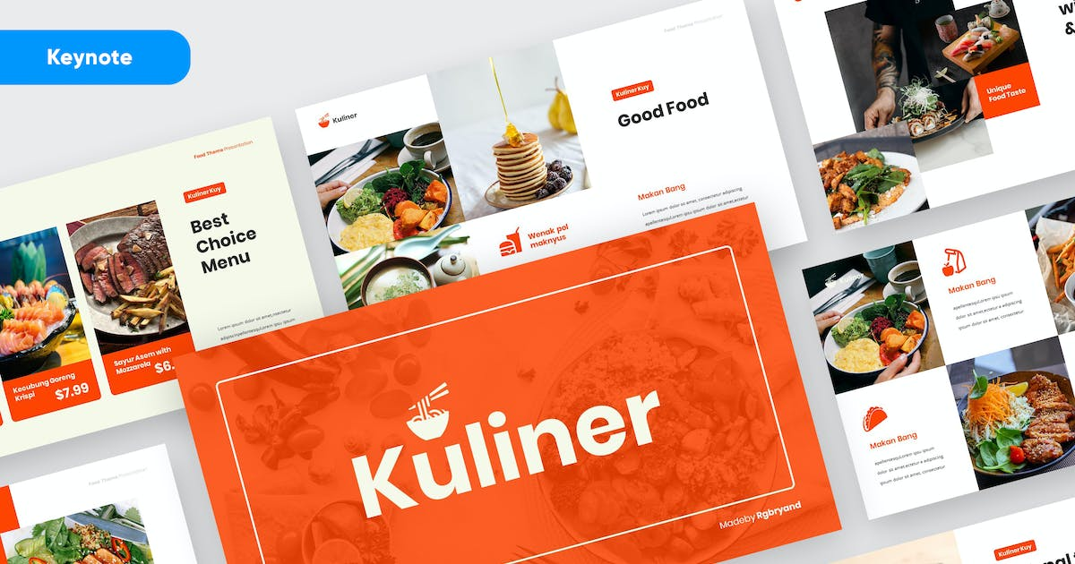 Download KULINER - Food Business Keynote Template by rgbryand