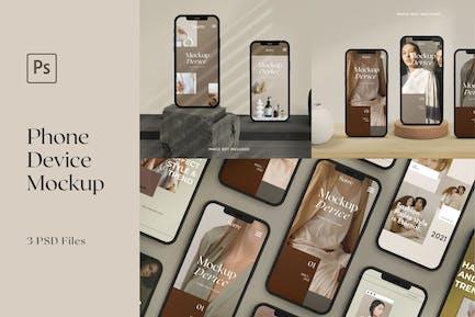Telefon Mockup Realistisches Gerät skandinavisch
