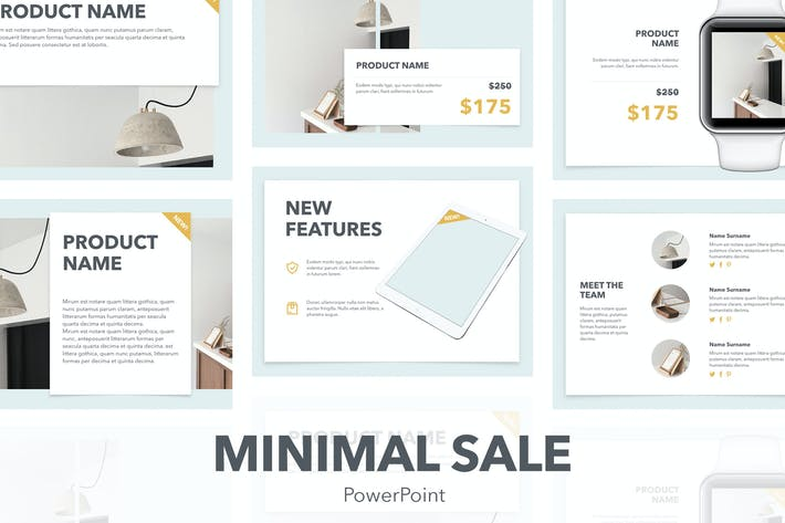 Thumbnail for Minimal Sale PowerPoint Template