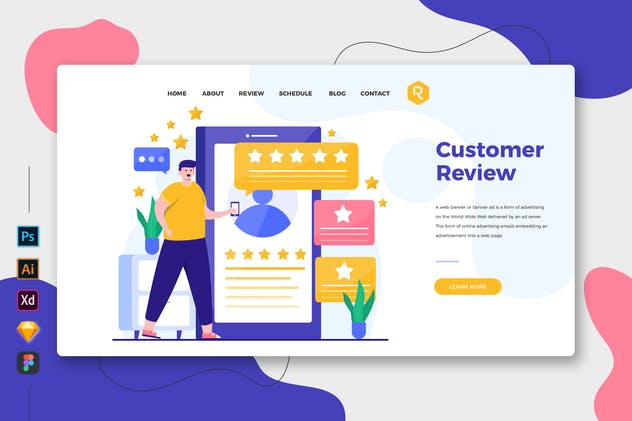 Customer Review - Web & Mobile Landing Page