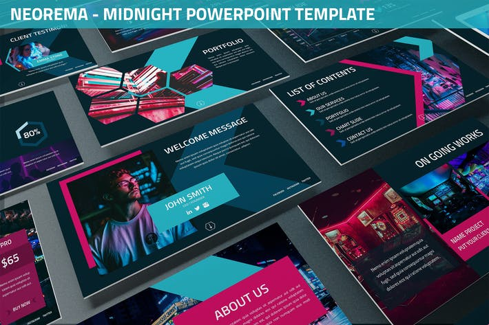 Thumbnail for Neorema - Midnight Powerpoint Template