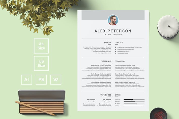 Thumbnail for Resume Template 15