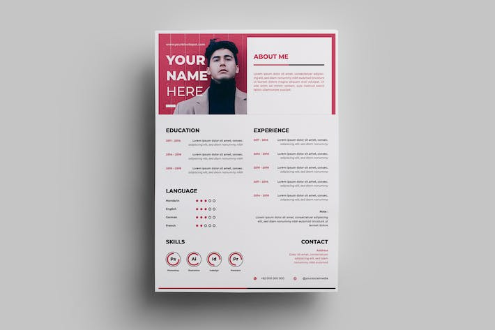 Thumbnail for Resume Design Templates.10