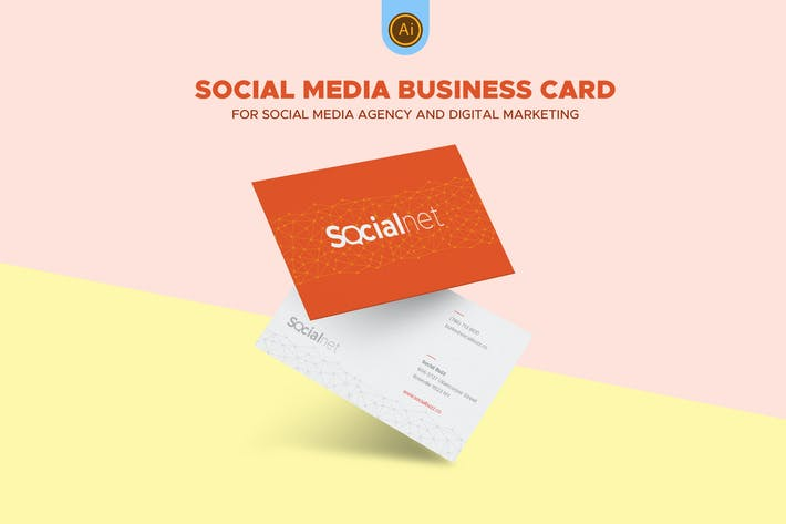 Social media business card 03 by afahmy on envato elements cover image for social media business card 03 accmission Choice Image