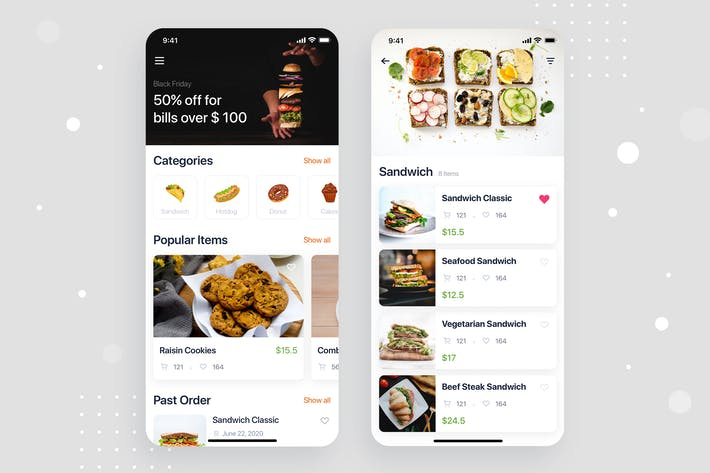 Thumbnail for Food Ordering mobile app concept