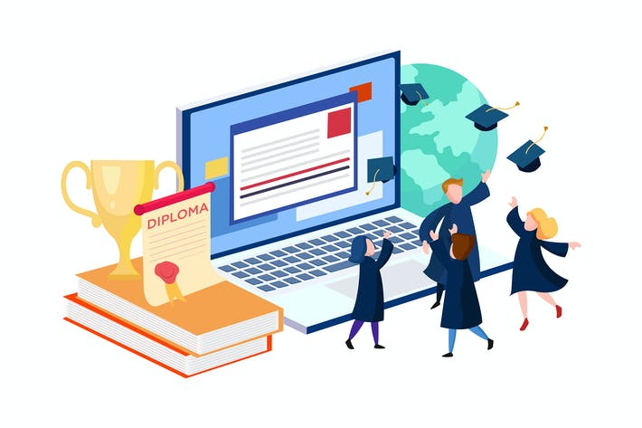 Cover Image For Online Education vector Illustration concept