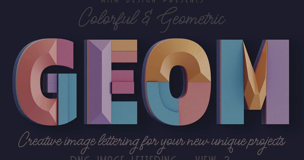 Download Decorative Geometry - 3D Lettering - View 3 by cruzine