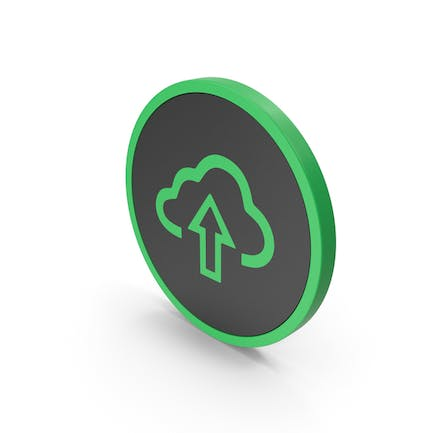 Icon Cloud Upload Green