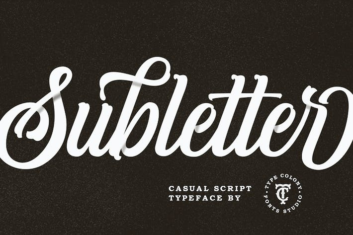 Thumbnail for Subletter Font