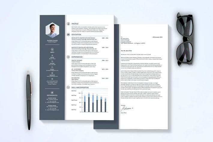 Thumbnail For Modern Resume Cover Letter Template