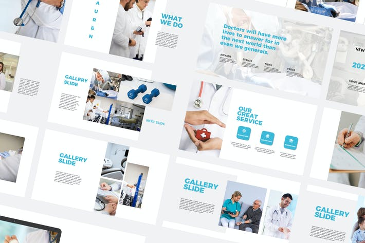 Thumbnail for Lauren Medical - Powerpoint Templates