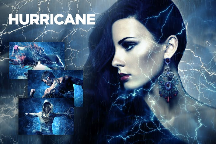 Thumbnail for Hurricane Photoshop Action CS2+