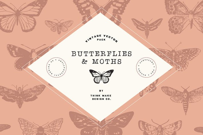 Thumbnail for Vintage Vector: Butterflies & Moths