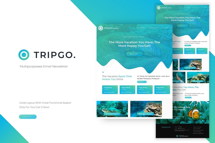 Thumbnail for Tripgo | Newsletter Template