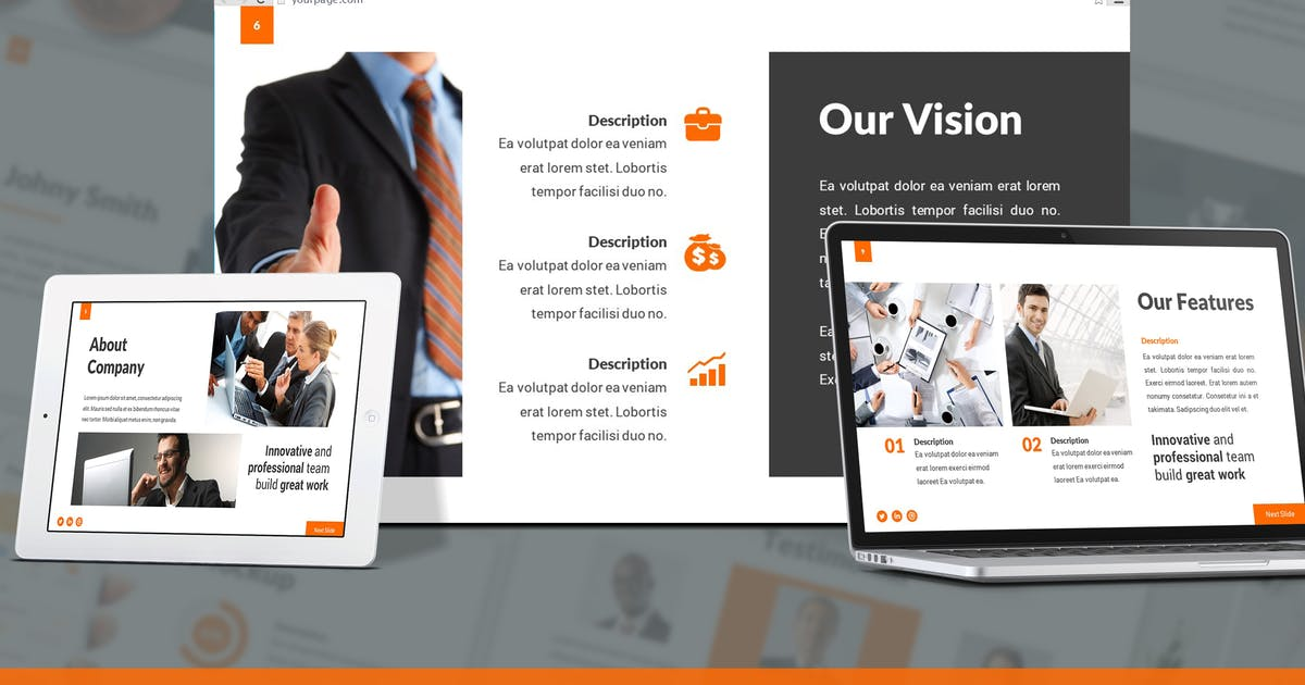 Download Riportize - Business Report Google Slides Template by SlideFactory