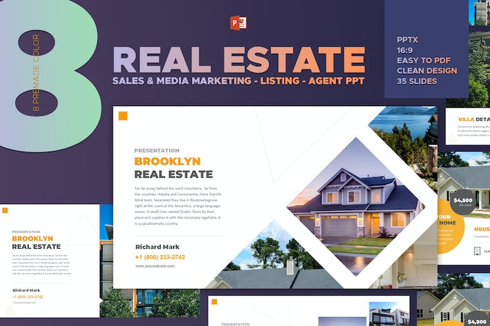 Real Estate Listing Powerpoint Template By Afahmy On Envato Elements