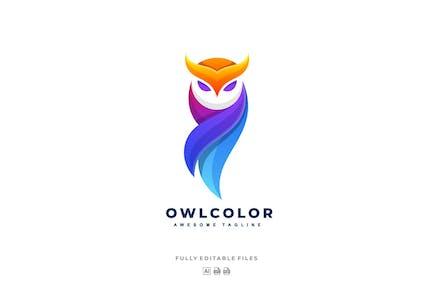 Owl Colorful Logo