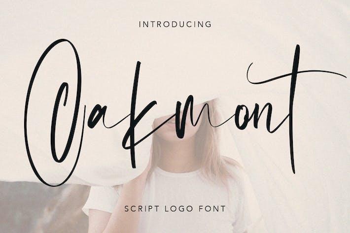 Thumbnail for Oakmont Script Logo Handmade Font