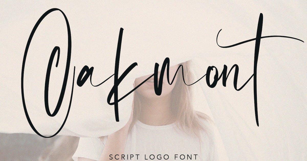 Download Oakmont Script Logo Handmade Font by maulanacreative