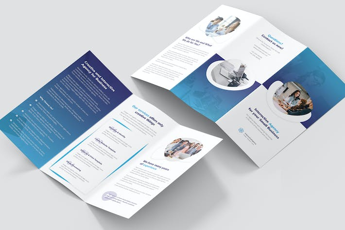Thumbnail for Brochure – Interactive Agency Tri-Fold