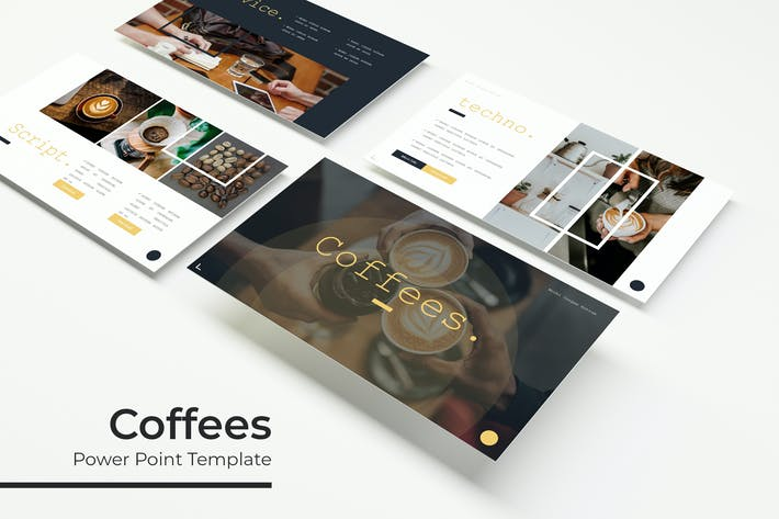 Thumbnail for Coffees - PowerPoint Template