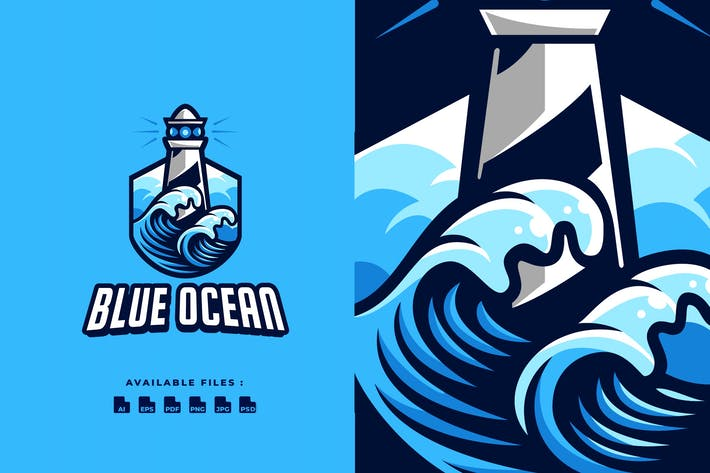 Thumbnail for Blue Ocean Badge Logo