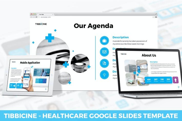 Thumbnail for Tibbicine - Healthcare Google Slides Template