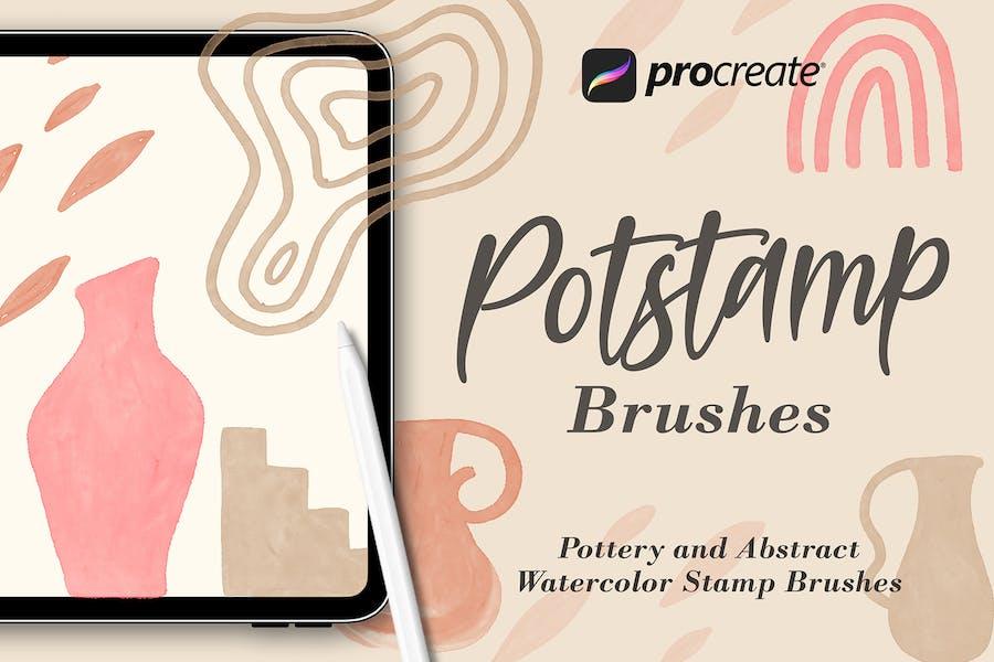 Potstamp - Procreat Brushes