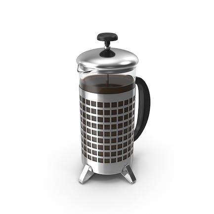 French Press Kaffeekanne voll