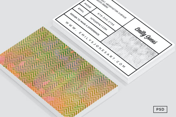Thumbnail for Painted Chevron Business Card