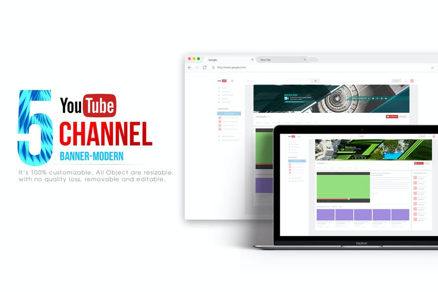 Youtube Channel Banners - Modern