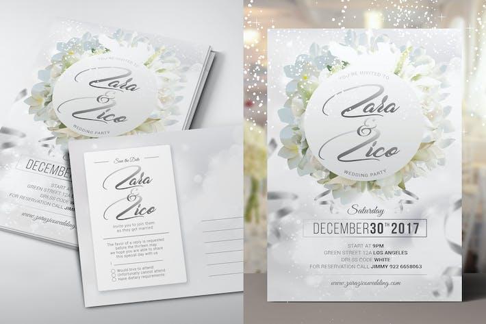 Thumbnail for Weiße Hochzeitseinladung