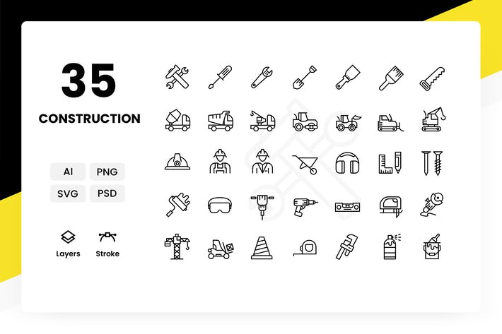 Cover Image For Construction - Icons Pack