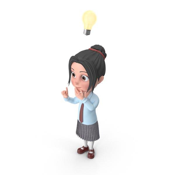 Thumbnail for Cartoon Girl Emma Has An Idea