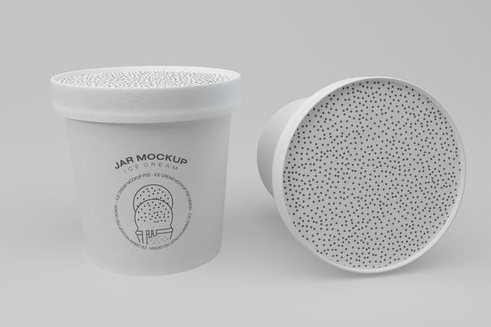 Ice Cream Jar Mockup